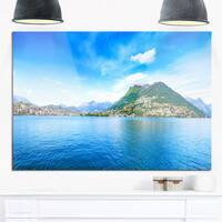 Lugano Lake Ticino Panorama - Extra Large Seashore Glossy Metal Wall Art