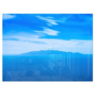 Giglio Island Aerial View from Argentario - Extra Large Seashore Glossy Metal Wall Art