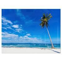 Calm Summer Vacation Beach Philippines - Modern Seascape Glossy Metal Wall Art