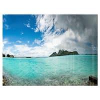 Bora Bora French Polynesia Panorama - Large Seascape Glossy Metal Wall Art