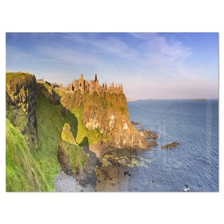 Dunluce Castle in Northern Ireland - Large Seascape Glossy Metal Wall Art