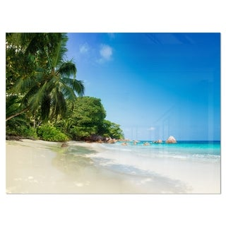 Beautiful Praslin Island Seychelles - Large Seascape Glossy Metal Wall Art