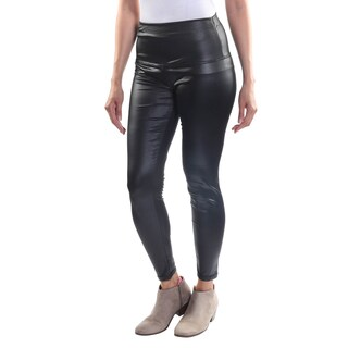 Hadari Women's One Size High Waisted Classic Black Leggings