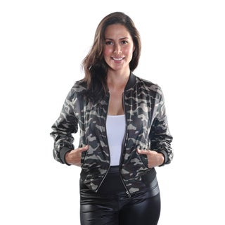 Hadari Women's Frontal Zip Bomber Jacket