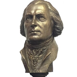 Bonded Marble 11-inch Tall Bust of James Madison