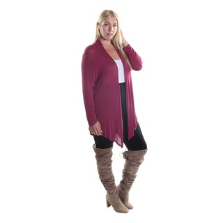Hadari Women's Plus Size Long Sleeve Open Front Cardigan (2 options available)