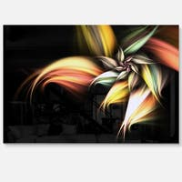 Light Orange Pink Glossy Flower - Large Floral Glossy Metal Wall Art