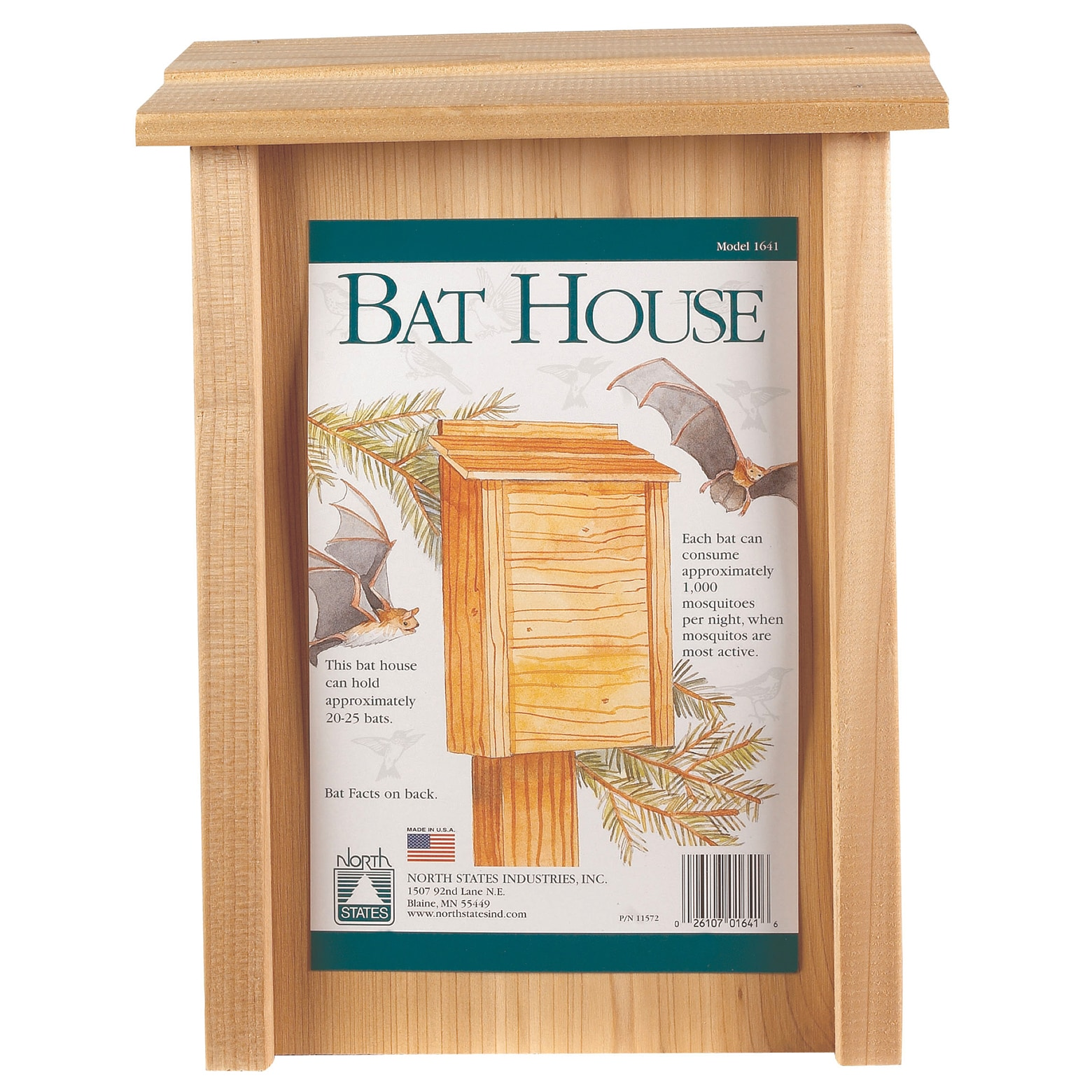 "North States Industries Bat House (8"" X 4-3/4"" X 15""), Si..."