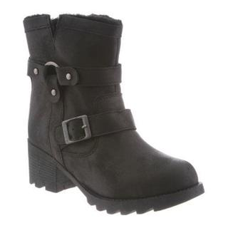 Women's Bearpaw Felicity Ankle Boot Black II Faux Leather