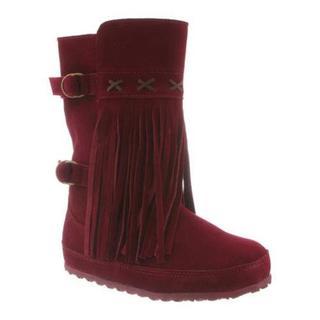 Women's Bearpaw Krystal Pull On Boot Bordeaux Suede