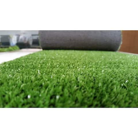 Zen Garden Green Faux Grass Rug With Drainage Holes