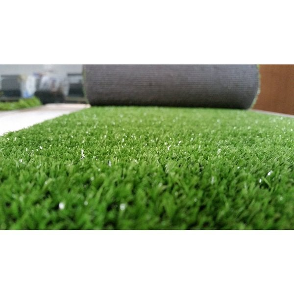 Shop Zen Garden Green Faux Grass Rug With Drainage Holes