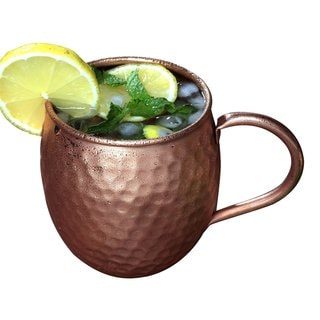 Melange Copper Barrel Moscow Mule Mug (Set of 4 )