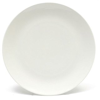 Melange Home Coupe Whte Porcelain Dinner Plate Set (24 Pieces)