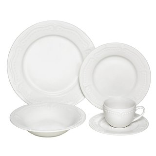 Melange Tuscan Villa Ivory Premium Dinnerware Place Setting (40 Piece)