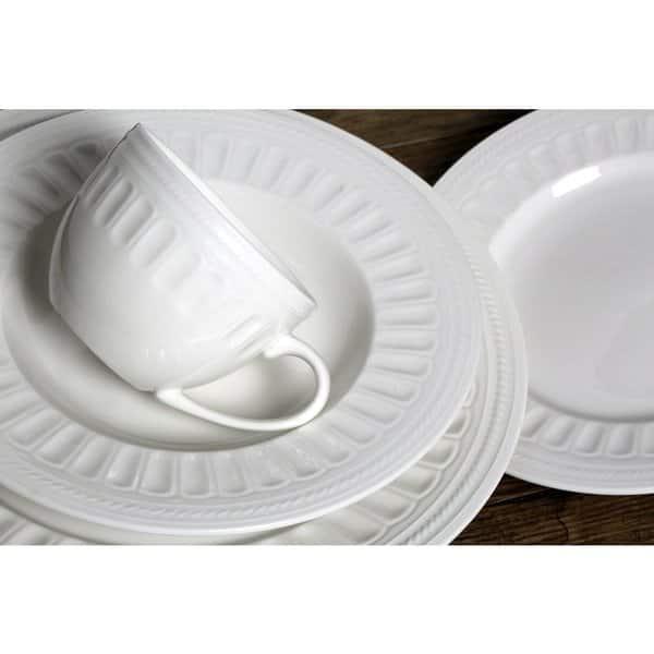 Melange English Lace 40 Piece Ivory Premium Dinnerware Place Setting Overstock 12789769