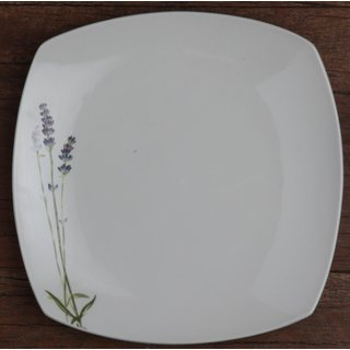 Melange Lavender Square White Porcelain 16-piece Place Setting