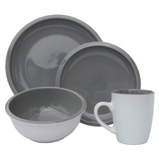 Melange Grey Stonewear 16-piiece Contempo Cantina 2-tone Dinner Set (Place Setting for 4)