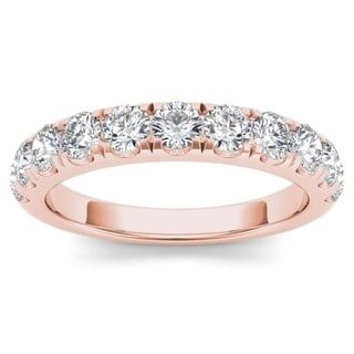 De Couer 14k Rose Gold 1ct TDW Wedding Band