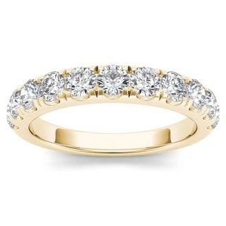 De Couer 14k Yellow Gold 1ct TDW Wedding Band (H-I, I2)