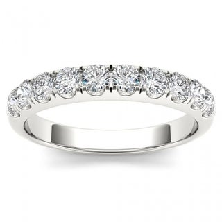 De Couer 14k White Gold 3/4ct TDW Wedding Band - White H-I
