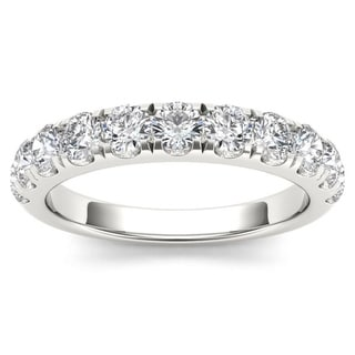 De Couer 14k White Gold 1ct TDW Wedding Band - White H-I