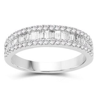 Olivia Leone 14K White Gold Genuine White Diamond Ring(0.71 cttw, G-H Color, SI1-SI2 Clarity)