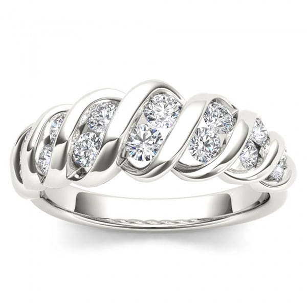 De Couer 14k White Gold 3/4ct TDW Anniversary Band - White H-I