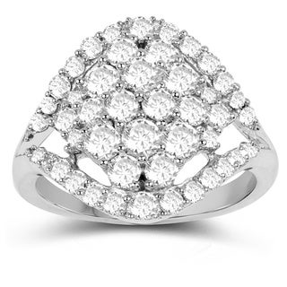 Olivia Leone 14K White Gold Genuine White Diamond Ring(1.43 cttw, G-H Color, SI1-SI2 Clarity)