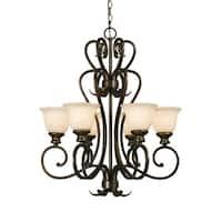 Golden Lighting's #8063-6 BUS Heartwood 6-light Chandelier