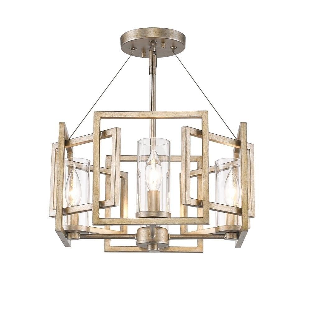 Golden Lighting Marco Semi Flush Light Fixture