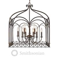 Golden Lighting Fired Bronze Steel 9-light Gateway Chandelier