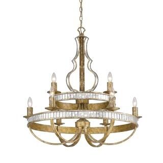 Golden Lighting Hayworth Two-Tier Nine-Light Chandelier