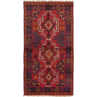 ecarpetgallery Hand-Knotted Kazak Black Red Wool Rug (3'6 x 6'5)