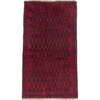 ecarpetgallery Hand-Knotted Herati Red Wool Rug (3'5 x 6'0)