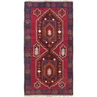 ecarpetgallery Hand-Knotted Kazak Red Wool Rug (3'4 x 6'4)