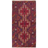 ecarpetgallery Hand-Knotted Kazak Orange Red Wool Rug (3'4 x 6'3)
