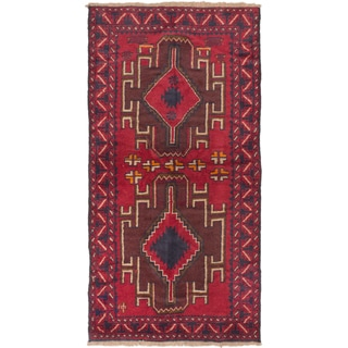 ecarpetgallery Hand-Knotted Kazak Red Wool Rug (3'7 x 6'11)