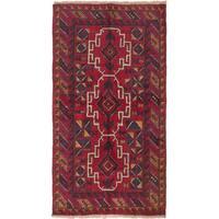 ecarpetgallery Hand-Knotted Kazak Red Cream Wool Rug (3'4 x 6'4)