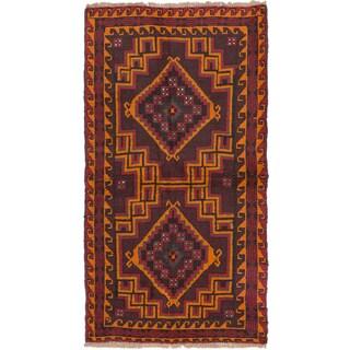ecarpetgallery Hand-Knotted Kazak Brown Orange Wool Rug (3'5 x 6'2)