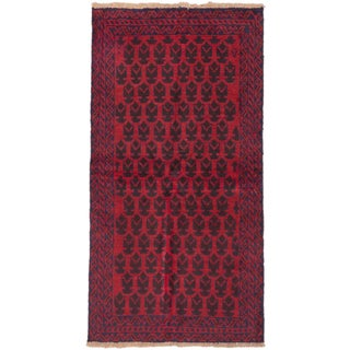 ecarpetgallery Hand-Knotted Herati Red Wool Rug (3'2 x 6'2)