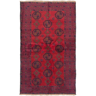 ecarpetgallery Hand-Knotted Bahor Red Wool Rug (3'5 x 5'10)