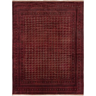 ecarpetgallery Hand-Knotted Royal Balouch Red Wool Rug (10'3 x 13'4)