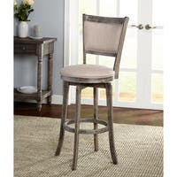 Simple Living French Country Grey Rubberwood/Fabric 30-inch Swivel Stool (As Is Item)