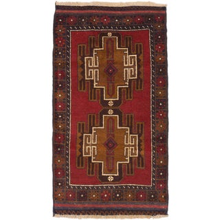 ecarpetgallery Hand-Knotted Kazak Red Wool Rug (2'10 x 5'2)