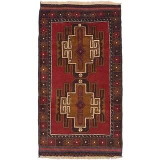 ecarpetgallery Hand-Knotted Kazak Red Wool Rug (2'10 x 5'2)