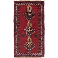 ecarpetgallery Hand-Knotted Baluch Red Wool Rug (3'6 x 6'3)