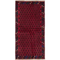 ecarpetgallery Hand-Knotted Herati Blue Red Wool Rug (3'4 x 6'6)