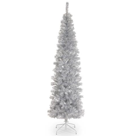 Silver Tinsel 6-foot Tree