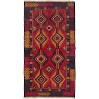 ecarpetgallery Hand-Knotted Baluch Brown Red Wool Rug (3'5 x 6'3)